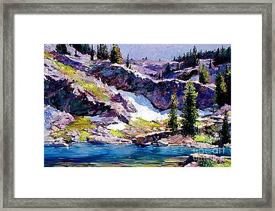 Spring At Jade Lake Framed Print by David Lloyd Glover