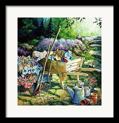 Garden Tools Framed Prints