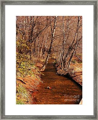 Spring At Red Rock Crossing Framed Print by Marilyn Smith