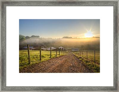 Spring At The Farm Framed Print by Debra and Dave Vanderlaan