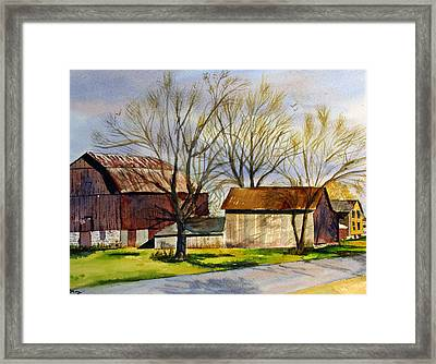 Spring At The Farm Framed Print by Tina Storey