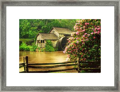Spring At The Mill Framed Print by Darren Fisher