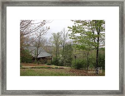 Spring At The Mountain Cabin Framed Print by Marilyn Carlyle Greiner