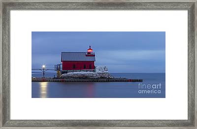 Spring At The Outer Range Light Framed Print by Twenty Two North Photography