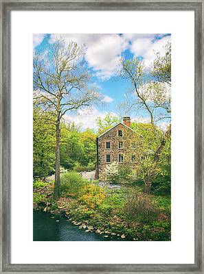 Spring At The Stone Mill  Framed Print by Jessica Jenney