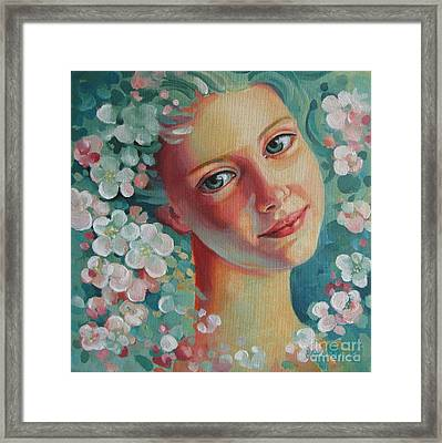 Framed Print featuring the painting Spring B by Elena Oleniuc