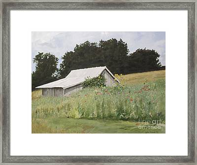 Enveloped By Wildflowers Framed Print by Carla Dabney