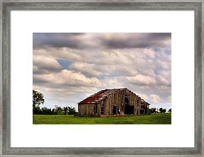 Spring Barn Framed Print by Karen Scovill