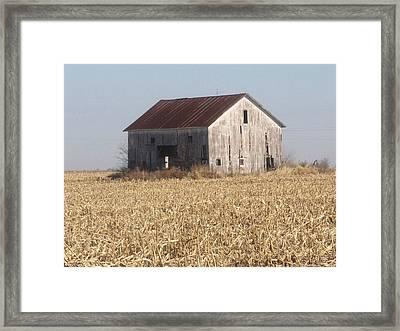 Spring Barn Framed Print by Michael L Kimble