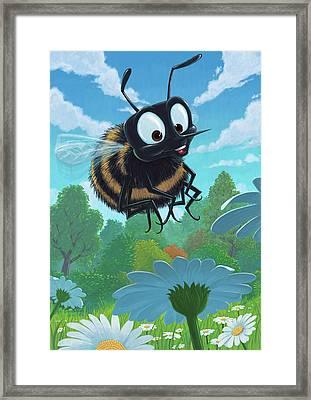 Spring Bee Framed Print by Martin Davey