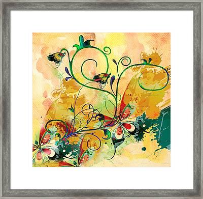 Spring Bliss Semi Abstract Design Framed Print