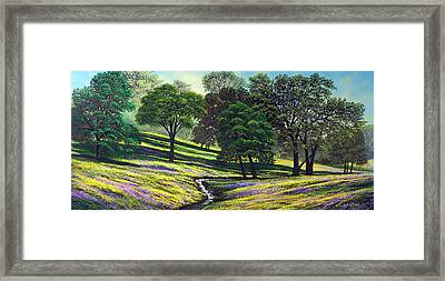 Spring Bloom Table Mountain Framed Print by Frank Wilson