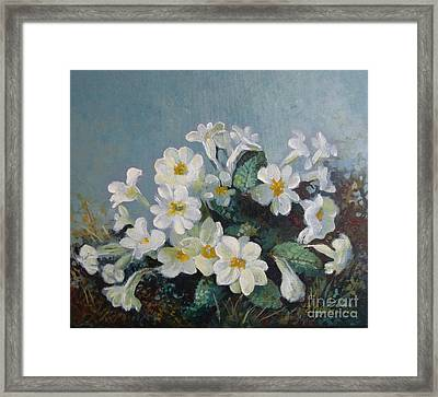 Framed Print featuring the painting Spring Blooms by Elena Oleniuc