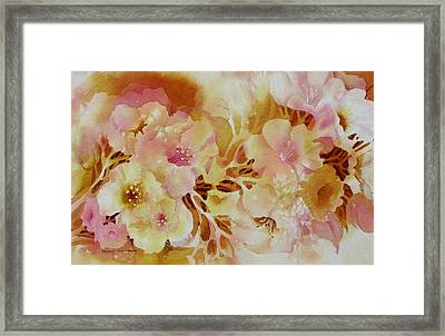 Spring-blooms Framed Print by Nancy Newman
