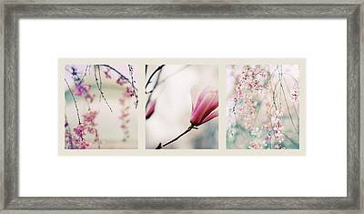 Framed Print featuring the photograph Spring Blossom Triptych by Jessica Jenney