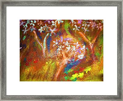 Framed Print featuring the painting Spring Blossom by Winsome Gunning
