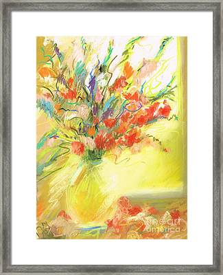 Spring Bouquet Framed Print by Frances Marino