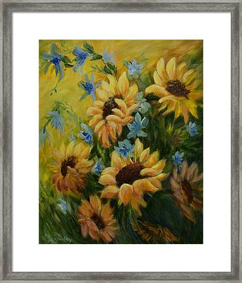 Sunflowers Galore Framed Print