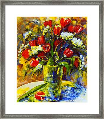 Framed Print featuring the painting Spring Bouquet by Marta Styk