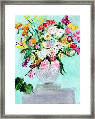 Spring Bouquet Framed Print by Michela Akers