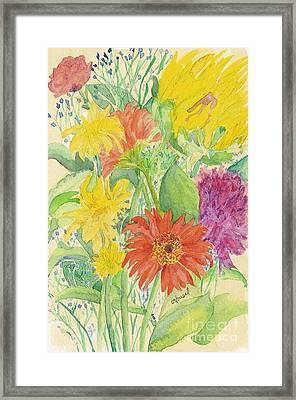 Framed Print featuring the painting Spring Bouquet  by Vicki  Housel