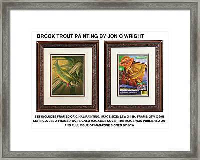 Spring Brook Trout Framed Print by Jon Q Wright