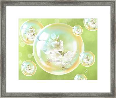 Spring Bubbles  Framed Print by Veronica Minozzi