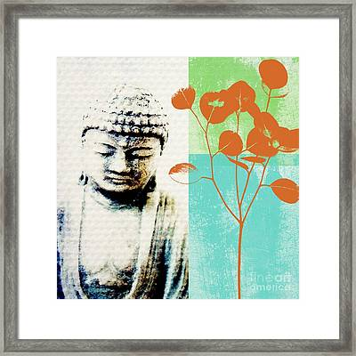 Spring Buddha Framed Print by Linda Woods