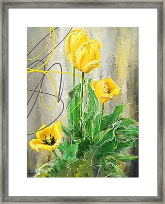 Spring Bulbs Framed Print by Lourry Legarde