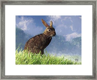 Spring Bunny Framed Print by Daniel Eskridge