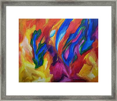 Framed Print featuring the painting Spring Bursts by Dianne  Connolly