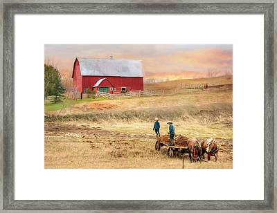 Spring Chores Framed Print