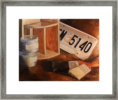 Framed Print featuring the painting Spring Cleaning by Rachel Hames