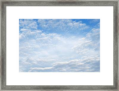 Spring Clouds Framed Print by Les Cunliffe