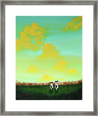 Spring Clouds Framed Print by Todd Young