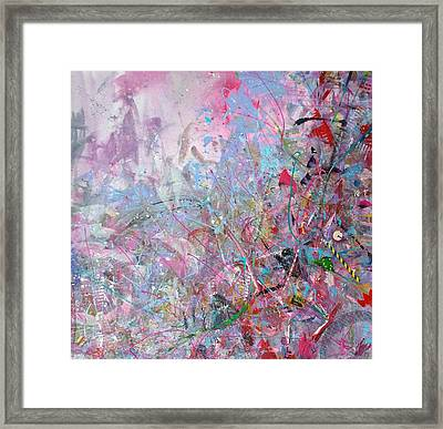 Spring Collage Framed Print