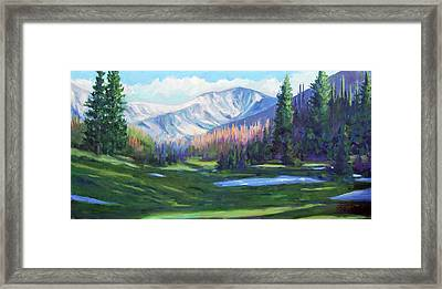 Framed Print featuring the painting Spring Colors In The Rockies by Billie Colson