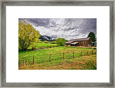 Framed Print featuring the digital art Spring Coming To Life by James Steele