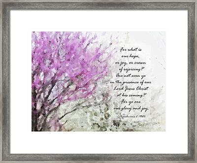 Spring Confetti - Verse Framed Print by Anita Faye
