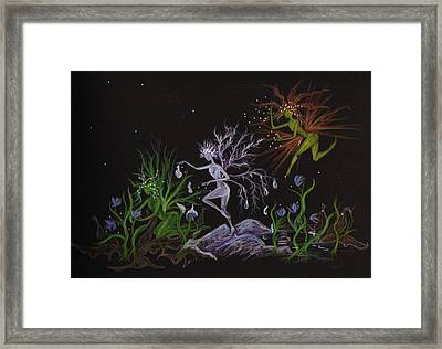 Framed Print featuring the drawing Spring Conflicts by Dawn Fairies