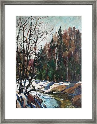 Spring Creek Framed Print
