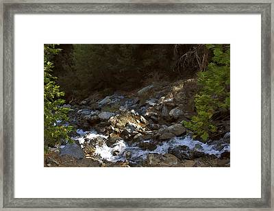 Framed Print featuring the painting Spring Creek by Larry Darnell