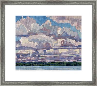 Spring Cumulus Framed Print
