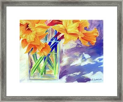 Spring Daffodils Framed Print by Joan Swanson