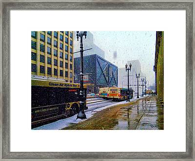 Spring Day In Chicago Framed Print by Dave Luebbert