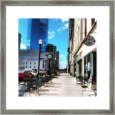 Spring Day In Downtown Lexington, Ky Framed Print