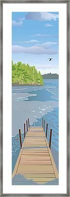 Spring Dock Framed Print by Marian Federspiel
