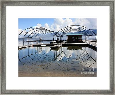 Spring Docks On Priest Lake Framed Print by Carol Groenen