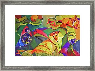 Spring Dog Framed Print