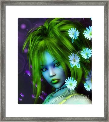 Spring Elf Framed Print by Jutta Maria Pusl